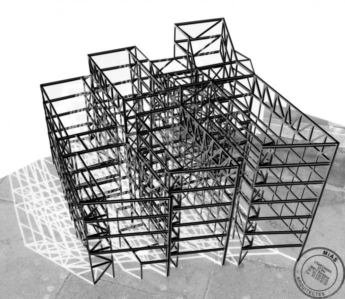Maqueta estructural del projecte.