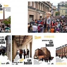 8 - Cartells de la segona jornada de debat durant l'entrada dels dies 11, 12 i 13 de juny