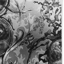 Registre: 1797 (AMSJD). Sostre de la capella amb motius vegetals. Any: 1928