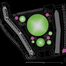 Robin Hood Gardens (Londres). Plano del conjunto. Autora del dibujo: Aránzazu Melon