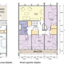 Robin Hood Gardens. Tipología dúplex de 4 dormitorios (96m2). Autora del dibujo: Aránzazu Melon