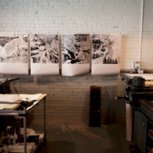 Original prints (Detroit, Chicago, Pittsburgh, Sudbury) by Etienne Turpin.