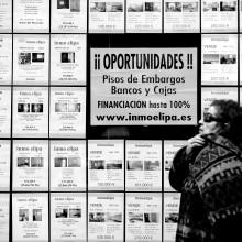 Víctimas de los desahucios. Foto: Olmo Calvo