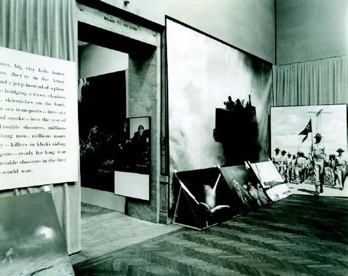 Road to Victory, comisariado por el diseñador de Bauhaus Herbert Bayer en el instituto de arte de Chicaco. 1943.