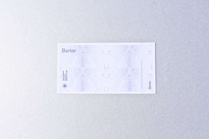 Printed Barter and Trust Coin.