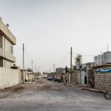 Daratoo, Kurdistan, Northern Iraq. Collective towns are still organised around a perpendicular grid as they were initially designed by Saddam Hussein. Photo: Leo Novel