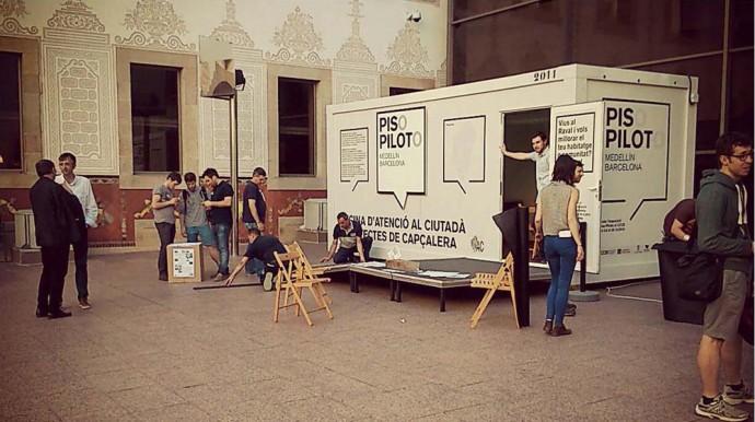 Arquitectes de Capçalera en la exposición Piso Piloto