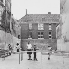 The playground at Laurierstraat, Amsterdam in the 1960s, one of the 700 that Aldo van Eyck designed for the city. (Photo: © Ed Suister, courtesy Amsterdam City Archives)